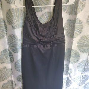 Elie Tahari black silk zipper back dress